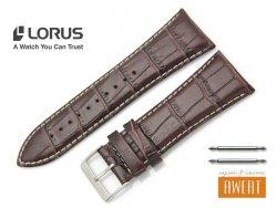 LORUS 29 mm oryginalny pasek 917689 brązowy