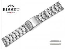 BISSET 26 mm bransoleta stalowa BR114 srebrna