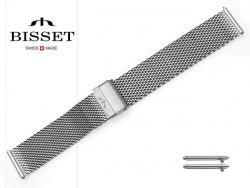 BISSET 22 mm bransoleta stalowa mesh BM102 srebrna