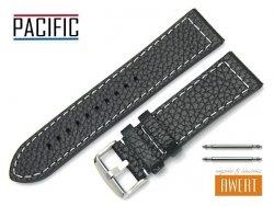 PACIFIC 24 mm pasek skórzany W45 czarny