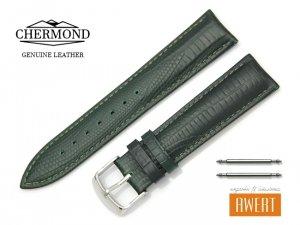 CHERMOND 20 mm pasek skórzany C103 zielony