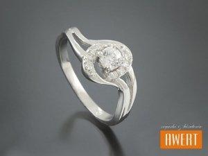 DELICE CRYSTAL srebrny pierścionek z cyrkoniami roz. 16