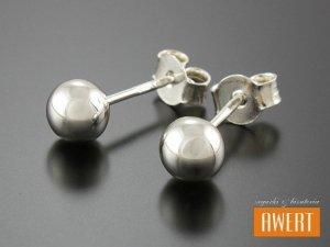 BEAD SILVER kolczyki srebrne kulki 6 mm