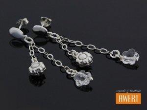 BLUME CRYSTAL srebrne kolczyki z cyrkoniami
