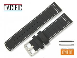 PACIFIC 24 mm pasek skórzany W40 czarny