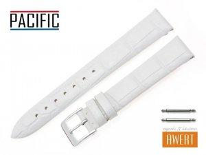 PACIFIC 16 mm pasek skórzany W09 biały