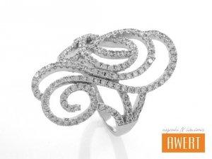 ADMA CRYSTAL srebrny pierścionek roz.14