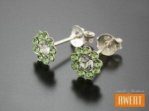 FLO GREEN kolczyki srebrne z cyrkoniami