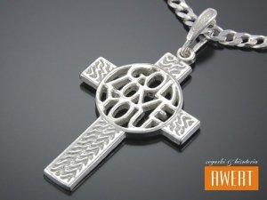 Duży krzyżyk srebrny GOD LOVE YOU
