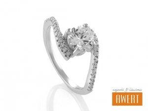 EDREI srebrny pierścionek z cyrkoniami roz.11