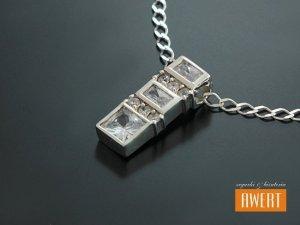 VERIN srebrny wisior zawieszka z cyrkoniami