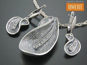 BAFIA srebrny komplet biżuterii z cyrkoniami