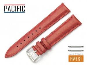 PACIFIC 18 mm pasek skórzany W114 czerwony perłowy