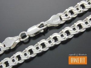 GARIBALDI łańcuch srebrny 55 cm / 6,5 mm