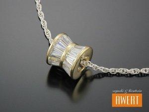 LIRIOS GOLD srebrna zawieszka z kryształkami SWAROVSKI