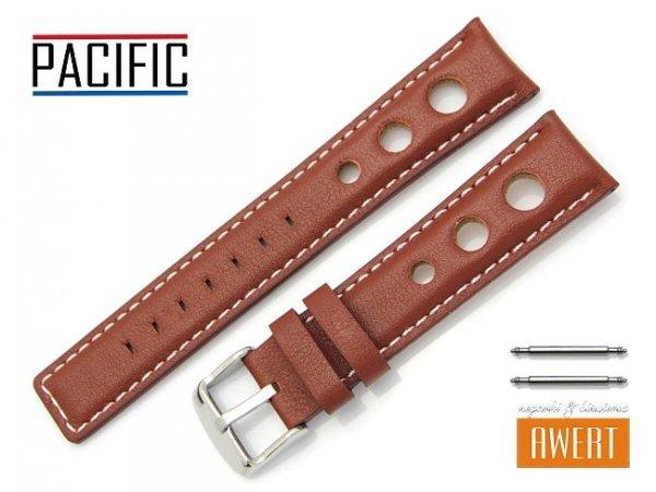 PACIFIC 20 mm pasek skórzany W115 brązowy