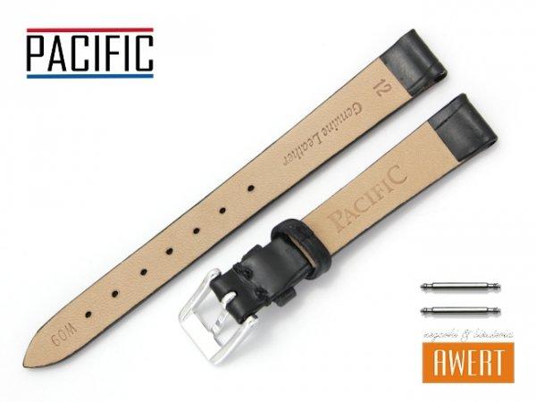 PACIFIC 12 mm pasek skórzany W09 czarny