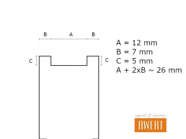 LORUS 26 mm oryginalny pasek RHG021X 953090