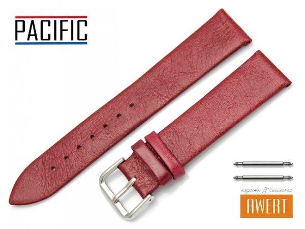 PACIFIC 20 mm pasek skórzany W86 czerwony
