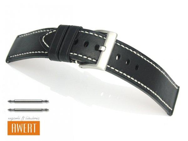 TEKLA 26 mm pasek skórzany PT51 białe szycie