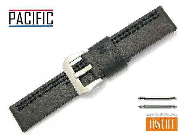PACIFIC 24 mm pasek skórzany W119 czarny