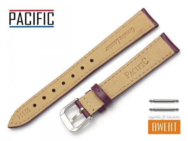 PACIFIC W114 pasek skórzany 14 mm fioletowy