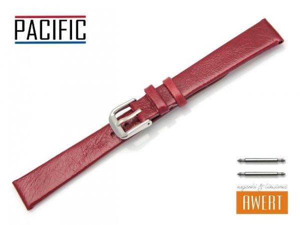 PACIFIC 14 mm pasek skórzany W86 czerwony