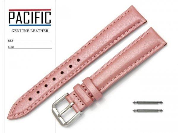 PACIFIC W114 pasek skórzany 16 mm różowy