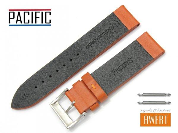 PACIFIC W38 pasek skórzany 22 mm brązowy