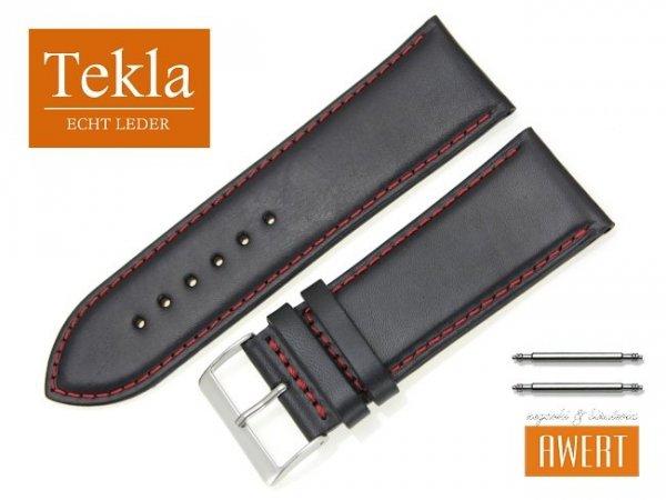 TEKLA 28 mm pasek skórzany PT68 czerwone szycie