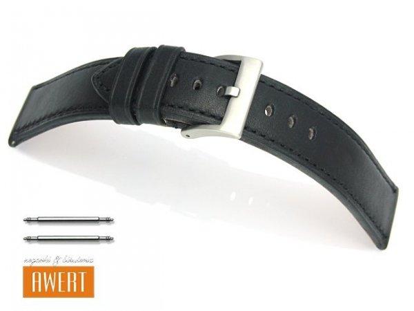 TEKLA 22 mm pasek skórzany PT51 czarny