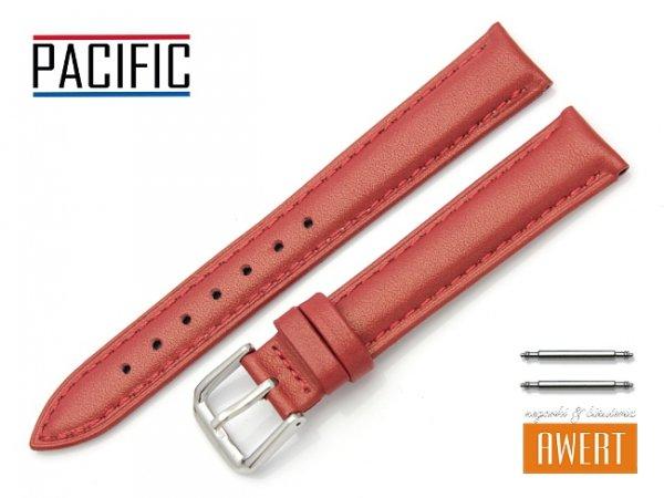 PACIFIC W114 pasek skórzany 12 mm czerwony