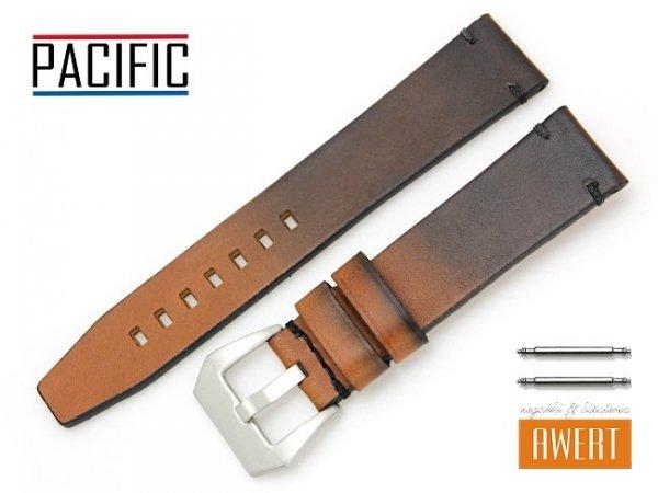 PACIFIC 22 mm pasek skórzany W120 brązowy W120-5S-22