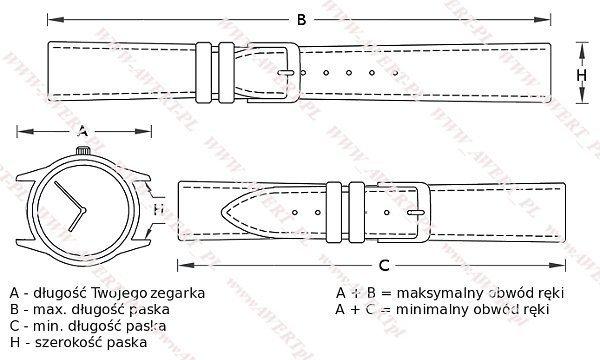 DILOY 28 mm pasek skórzany 369.30