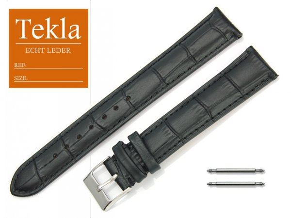 TEKLA 18 mm XL pasek skórzany PT41 czarne szycie