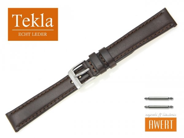 TEKLA 16 mm pasek skórzany PT68 brązowy