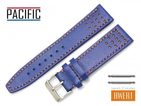 PACIFIC 22 mm pasek skórzany W28 niebieski