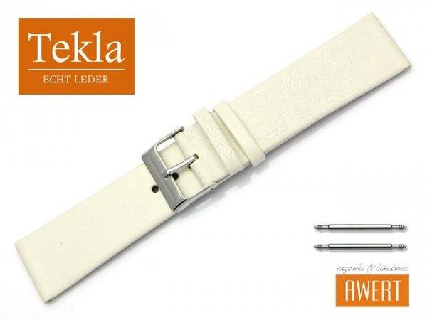 Pasek do zegarka TEKLA PT26 skórzany 22 mm ecru