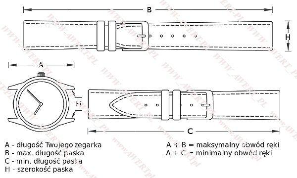 TEKLA 26 mm pasek skórzany PT52 czerwone szycie