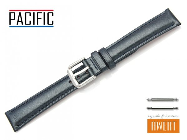 PACIFIC W114 pasek skórzany 16 mm zielony