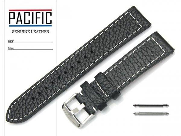 PACIFIC 20 mm pasek skórzany W45 czarny