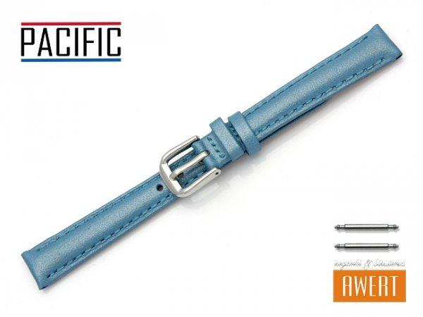 PACIFIC W114 pasek skórzany 12 mm niebieski
