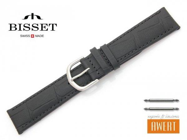 Pasek skórzany do zegarka 20 mm BISSET BS111 czarny