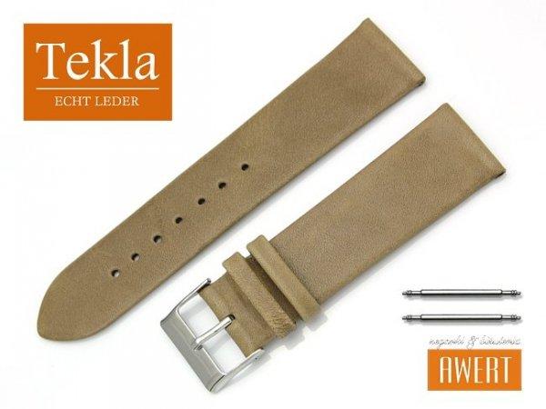 Pasek do zegarka TEKLA PT26 skórzany 22 mm brązowy