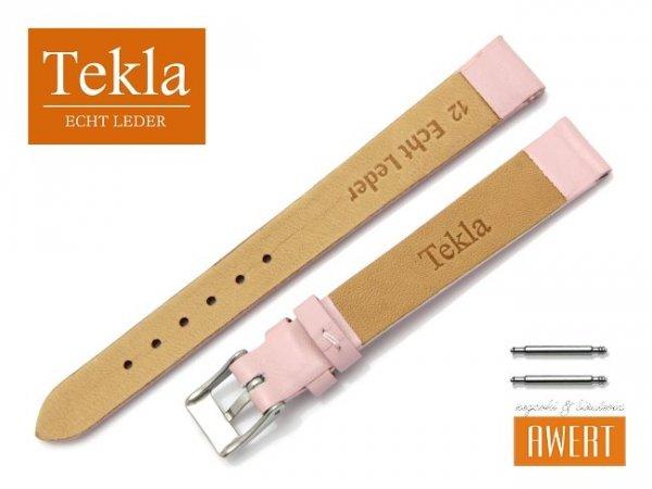 TEKLA 12 mm pasek skórzany PT16 różowy