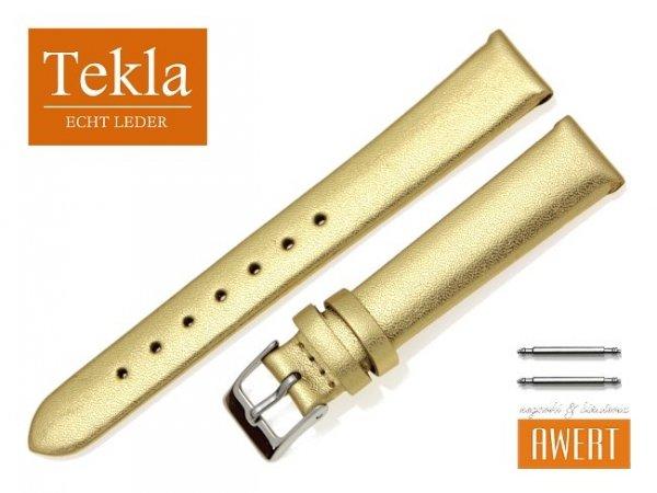 TEKLA 14 mm pasek skórzany PT11 złoty