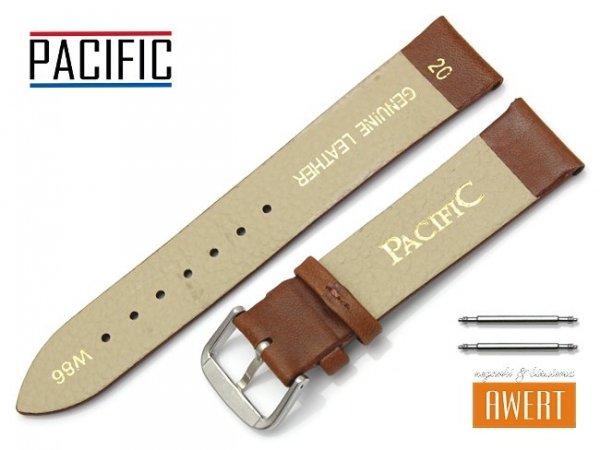 PACIFIC 20 mm pasek skórzany W86 brązowy