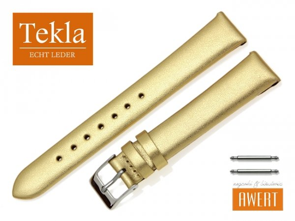 TEKLA 16 mm pasek skórzany PT11 złoty