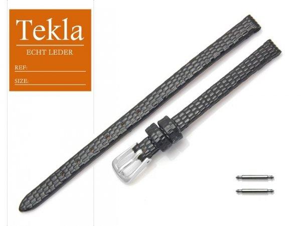 Pasek skórzany do zegarka 6 mm TEKLA PT34 czarny