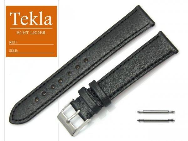 Pasek do zegarka skórzany 18 mm TEKLA PT69 czarny
